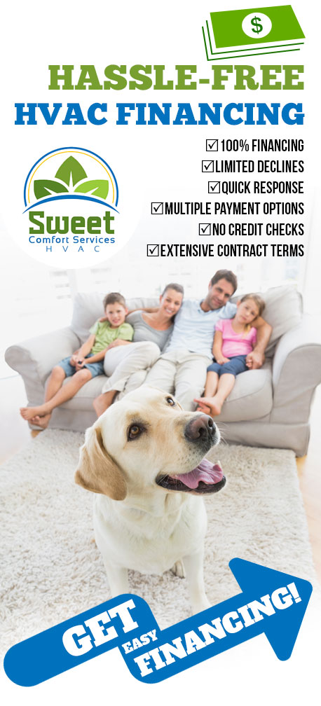 Heating & Air Conditioning Financing | Sweet Comfort Services